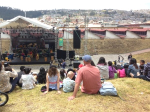 Outdoor concert in Quito.