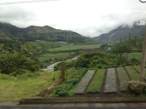 On the road to Baños
