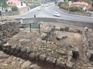 A site in Cuenca that was occupied by Cañari, then Incas, then Spanish