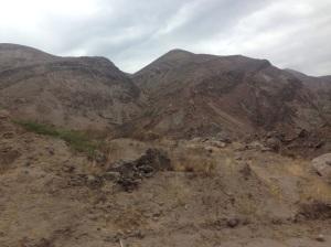 Stark desert in southern Ecuador