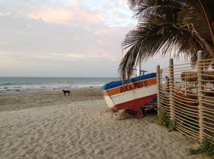 Stunning beach in front of Rockapulco, Las Pocitas, Mancora Peru.