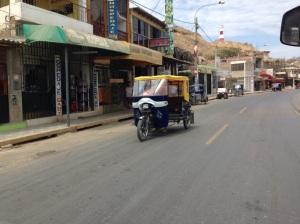 A moto-taxi in Mancora.