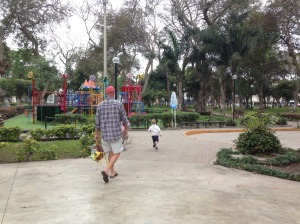 Wonderful parks in Lima with well-maintained playground equipment and manicured plants!