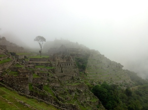 The clouds over an early morning Machu Picchu.