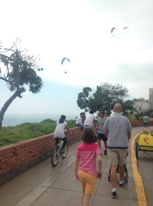 The Malecon along the cliffs of Miraflores.