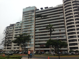 Typical residential building in Miraflores.